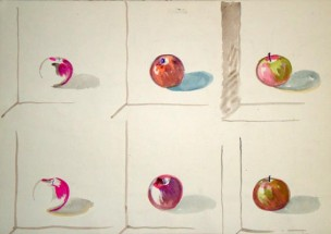 School of Hopper Study Reverse: Six Apples